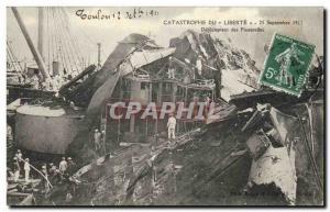 Ansichtskarte AK Mort Toulon Catastrophe du Liberte Deblaiement des passerelles