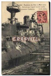 Ansichtskarte AK Toulon Explosion du Iena