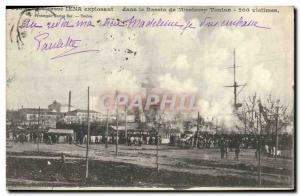 Ansichtskarte AK Le cuirasse Iena explosant dans le bassin de Missiessy Toulon