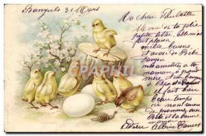 Ansichtskarte AK Poussins Escargot