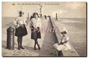 Ansichtskarte AK Folklore Les Sables d'Olonne Un brin de causette