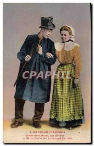 Ansichtskarte AK Folklore Les amoureux Sarthois