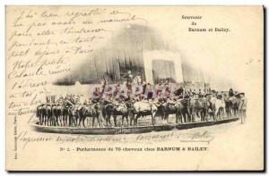 Ansichtskarte AK Cirque Barnum et Bailey Performance de 70 chevaux