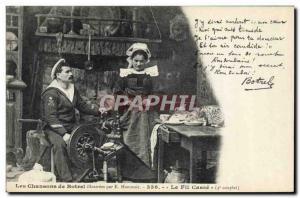 Ansichtskarte AK Folklore Botrel Les chansons de Botrel illustrees Le fil casse Marin