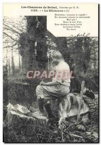 Ansichtskarte AK Folklore Botrel Les chansons de Botrel illustrees Le bucheron