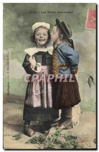 Ansichtskarte AK Folklore Enfants Les petits amoureux