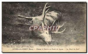 Ansichtskarte AK Chasse a courre en Foret de Lyons La mort du cerf Lyons le Foret