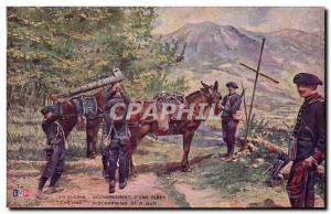 Ansichtskarte AK Militaria Dechargement d'une piece