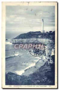Ansichtskarte AK Phare Biarritz Le phare et les falaises