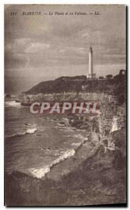 Ansichtskarte AK Phare et les falaises Biarritz