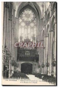Ansichtskarte AK Orgue Bourges Interieur de la cathedrale Les grandes orgues et la rosace de la facade