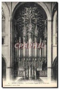Ansichtskarte AK Orgue Rodez Les grandes orgues de la cathedrale