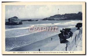 Ansichtskarte AK Phare Biarritz Cote du phare vue de la terrasse du Grand Palais