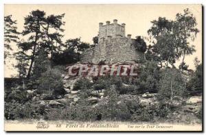 Ansichtskarte AK Chateau Foret de Fontainebleau Vue sur la Tour Denecourt