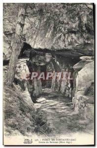 Ansichtskarte AK Grotte Grottes Foret de Fontainebealu Grotte du serment Mont Aigu