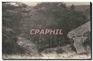 Ansichtskarte AK Foret de Fontainebleau Descente du Mont Aigu