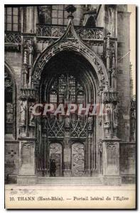 Ansichtskarte AK Thann Haut Rhin Portail lateral de l'Eglise