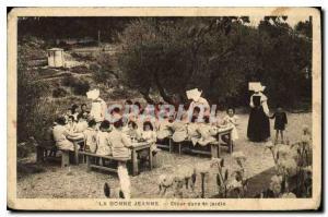 Ansichtskarte AK La Bonne Jeanne Diner dans 4e jardin