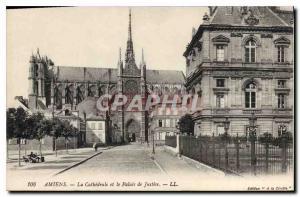 Ansichtskarte AK Amiens la cathedrale et le palais de justice
