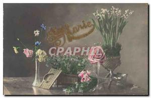 Ansichtskarte AK Fantaisie Fleurs
