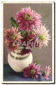 Ansichtskarte AK Bonne Fete Fleurs