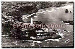 Ansichtskarte AK Biarritz Vue Aerienne Le Phare Les Falaises
