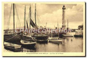 Ansichtskarte AK Ouistreham Riva Bella Le Port Et Le Phare