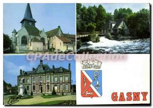 Moderne Karte Gasny L'Eglise La Mairie Les Bords De I'Epte