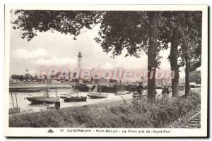 Ansichtskarte AK Ouistreham Riva Bella Le Phare pris de l'Avant Port