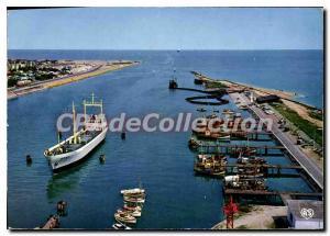 Moderne Karte Ouistreham Riva Bella Calvados entree du port