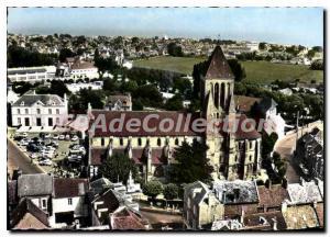 Moderne Karte Ouistreham Riva Bella Calvados vue panoramique l'eglise