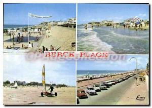 Moderne Karte Berck Plage Pas de Calais la plage l'Esplanade les Chars � voiles