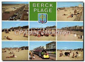 Moderne Karte la Cote d'Opale Berck Plage Pas de Calais esplanade Parmentier et divers aspects de la plage