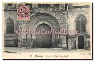 Ansichtskarte AK Etampes Portail de L'Eglise Saint Basile