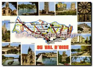 Moderne Karte Val d'Oise Auvers sur Oise Herblay Sarcelles Viarmes Ermont Enghien Nesles la vall�e Sannois Po