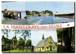 Moderne Karte La Mailleraye sur Seine Seine Maritime