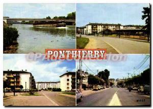 Moderne Karte Pontthierry (Seine et Marne) Le Pont Le Marche Cite du Moulin Clair La Nationale 7