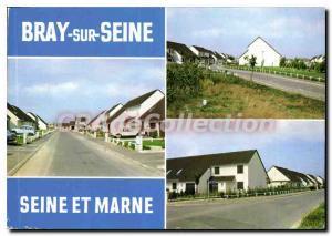Moderne Karte Bray sur Seine (Seine et Marne) Le Quartier Huchelot