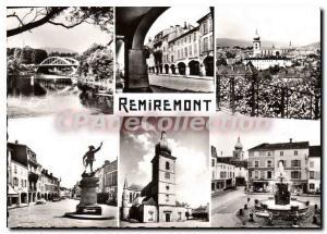 Moderne Karte Remiremont Le Pont Les Arcades Vue Generale Monument du Volontaire L'Eglise Fontaine Monumental