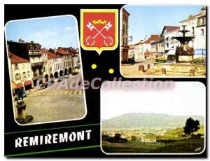 Moderne Karte Remiremont Vosges La Grande Rue La Place de la Courtine Vue generale