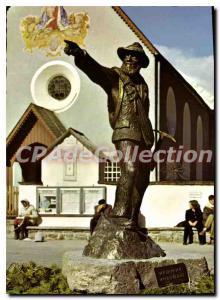 Moderne Karte Bronzeplastik am Dorfplatz in Obergurgl Gewidmet Den Pionieren unserer Heimat Martinus Scheiber