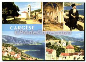 Moderne Karte La Corse Oasis de Beaute Cargese l'eglise romaine et l'eglise grecque interieur de l'eglise gre