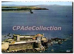 Moderne Karte Pres du Cap d'Agde Herault Le Fort brescou vu du ciel