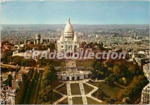 Moderne Karte Paris Vue aerienne Basilique du sacre coeur de Montmartre