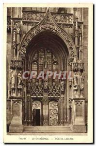 Ansichtskarte AK Thann la Cathedrale Portail lateral