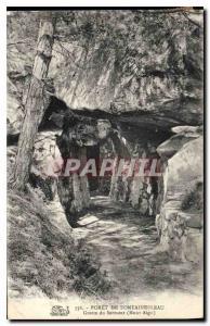 Ansichtskarte AK Foret de Fontainebleau Grotte du Serment Mont Aigu