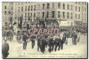 REPRO Catastrophe du Dirigable Republique le 25 septembre 1909 Funerailles ces victimes a Versailles