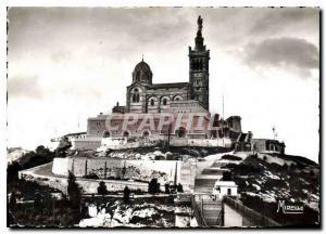 Moderne Karte Marseille B du R Notre Dame de la Garde