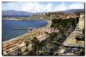Moderne Karte Cannes AM La Croisette et le Suquet