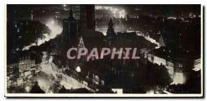 Moderne Karte Anvers Vue nocturne de la Cathedrale et de l'Escaut